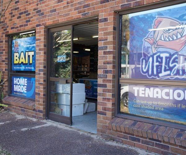 Storefront (Sideview) - Brined Baits Fishing Bait Shop Newcastle - UFISH Brined Baits